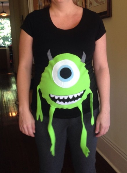 Mike Wazowski Pregnancy Costume I Made For My Sister  So Proud I