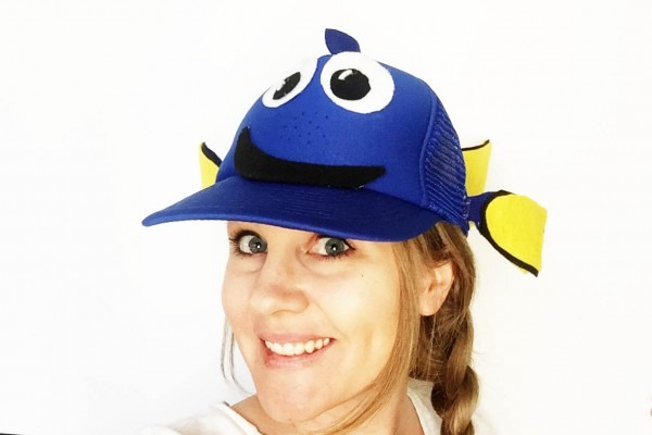 Diy Finding Dory Hat — All For The Boys