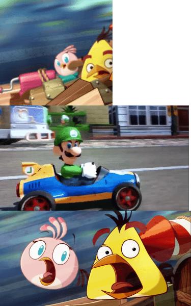 Angry Birds Art Mario And Luigi