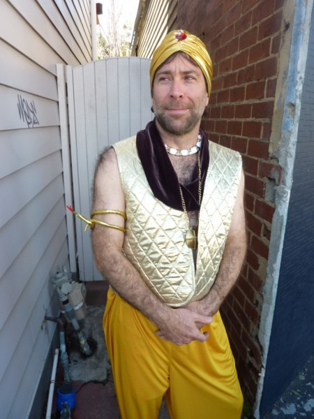 Gold Male Genie Arabian Nights Costume