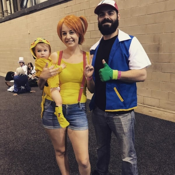 Ash, Misty, And Pikachu
