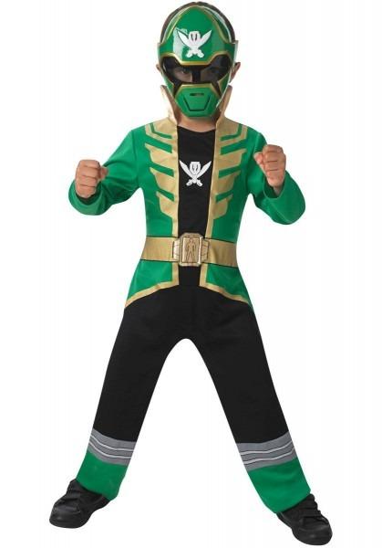 Green Super Megaforce Power Rangers Costume For Children