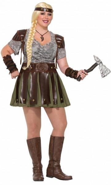 Viking Medieval Vixen Barbarian Warrior Adult Womens Costume Dress