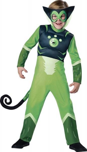 Wild Kratts Child Muscle Chest Costume Green Chris Kratt Spider