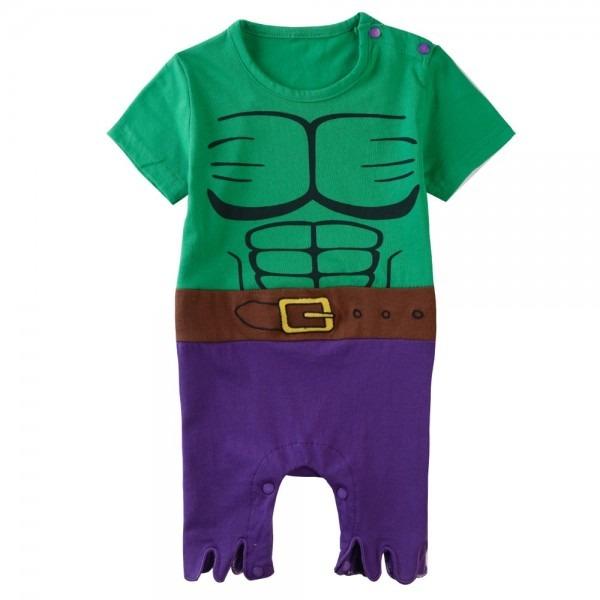 Baby Boys Green Hulk Rompers Toddler Costume Summer Short Sleeves