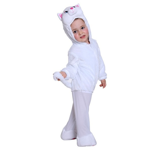 Kids White Cat Halloween Costume For Baby Girls And Boys
