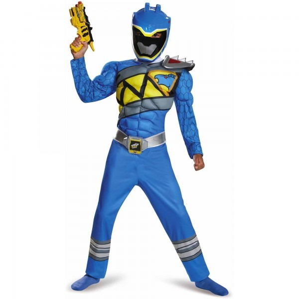 Blue Power Ranger Dino Charge Classic Muscle Child Halloween