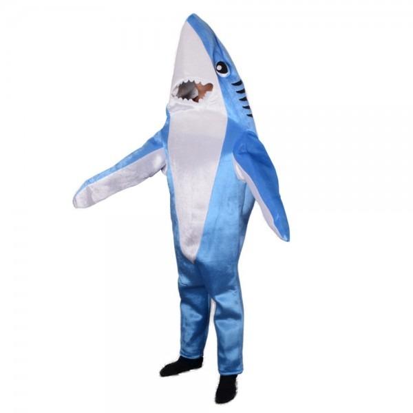 Blue Shark Attack Animal Costume Mascot Funny Adult Unisex Cute
