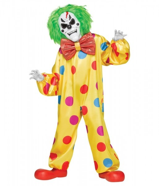 Color Change Killer Clown Boys Costume