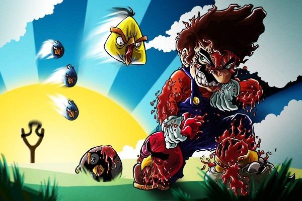 Mario Vs  Angry Birds