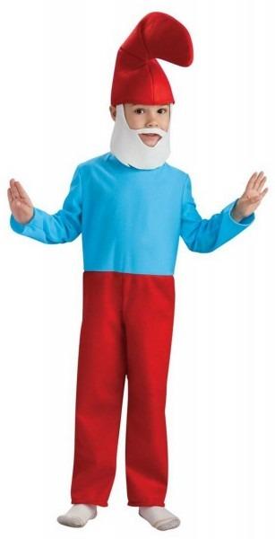 Kids The Smurfs Papa Smurf Costume