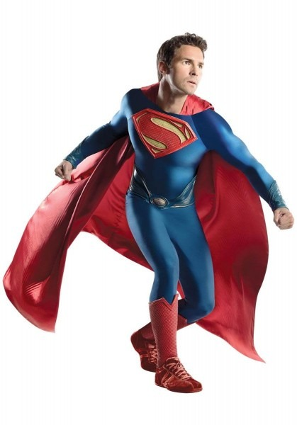 Superman Costume, Man Of Steel Fancy Dress, Grand Heritage
