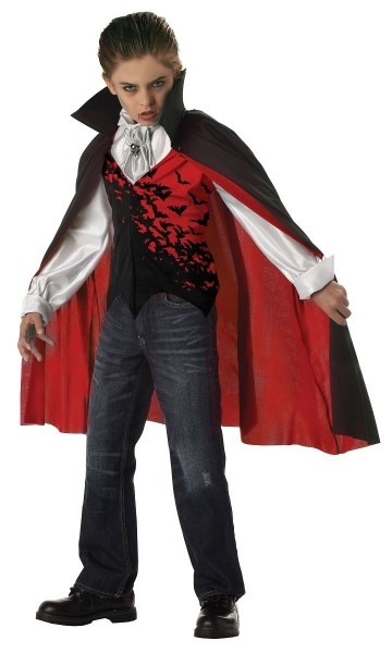 Kids Prince Of Darkness Boys Vampire Costume