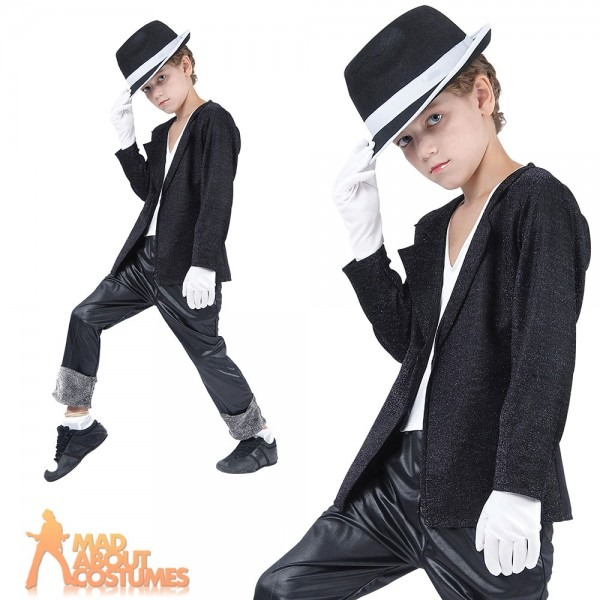 Child Michael Jackson 80s Superstar Costume Billie Jean Boys Fancy