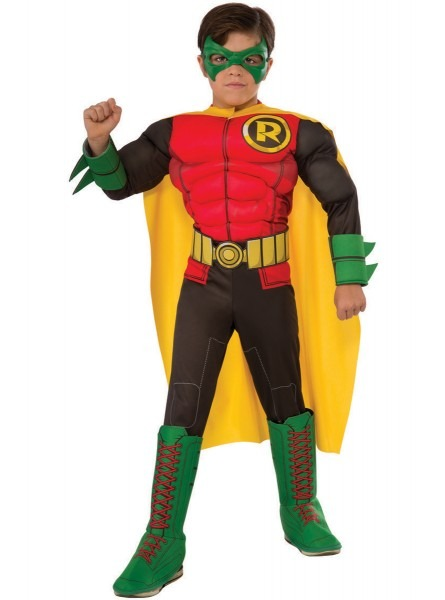 Childrens Robin Batman Deluxe Costume  Fast Delivery