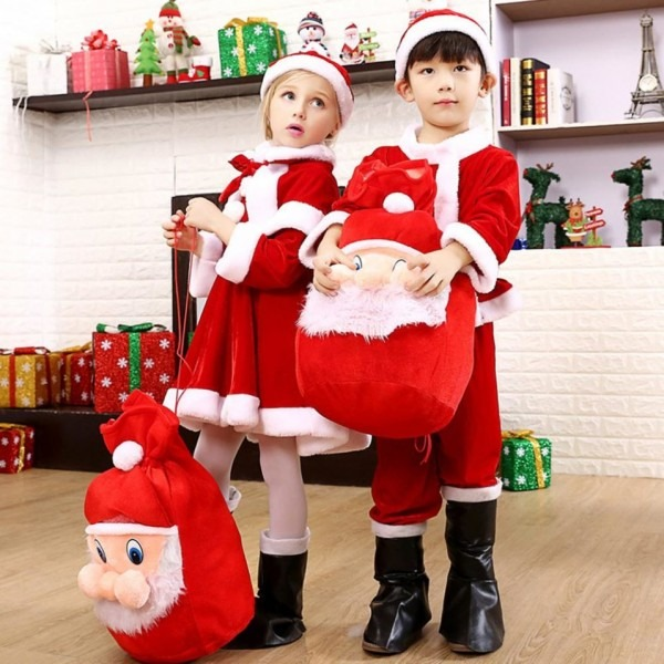 Childrens Santa Hats Kids Christmas Costume Toddler Childrenhes