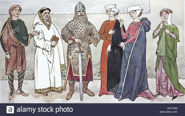 Clothing, Fashion, England In The Middle Ages, English Costumes