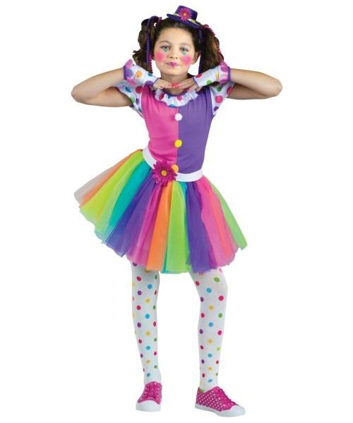 Just Clownin Around Girls Costume