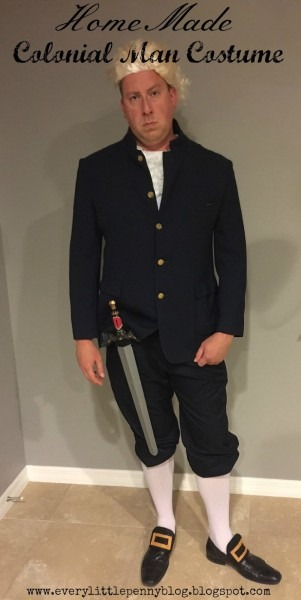 Every Little Penny  Homemade Halloween  Colonial Man Costume