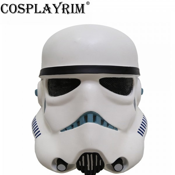 Cosplayrim Star Wars Clone Trooper Cosplay Mask Props White Full