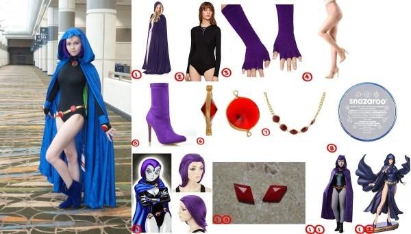 Dress Like Teen Titan Raven Costume For Cosplay & Halloween