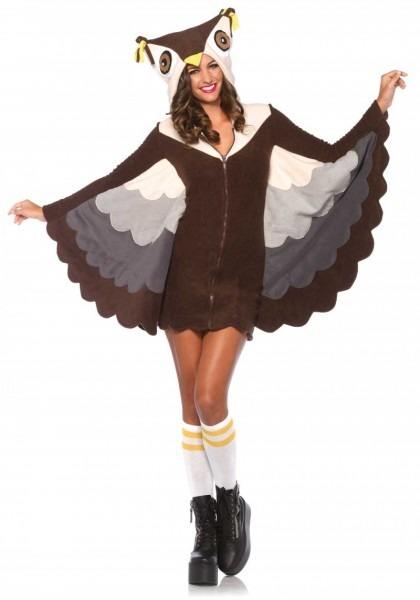 Cozy Fleece Owl Halloween Costume