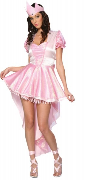 Adult Womens Glinda Ballerina Witch Pink Dress Costume Halloween