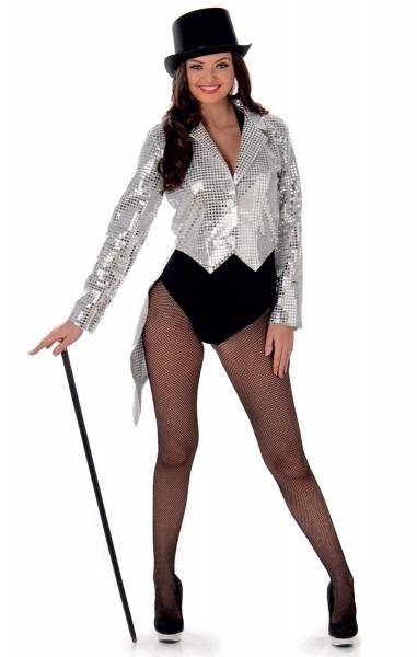 Silver Sequined Cabaret Costume