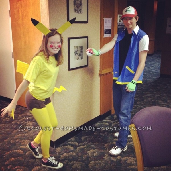 Cutest Couples Costume  Ash Ketchum And Pikachu