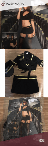 Sexy Mile High Captain Costume Halloween Pilot Xs In 2018