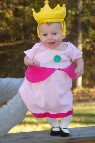 Princess Peach Costume For Infant The Ellis Mario Baby Girl