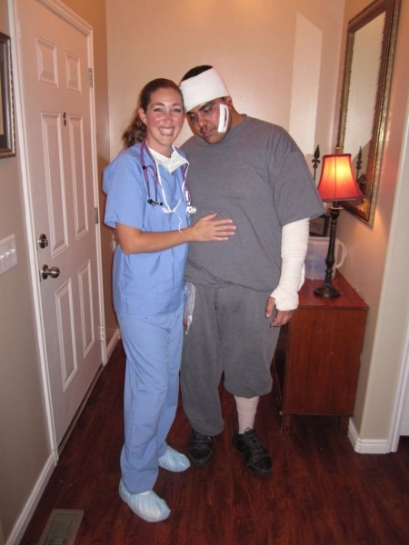 Nurse And Patient Halloween Costume!