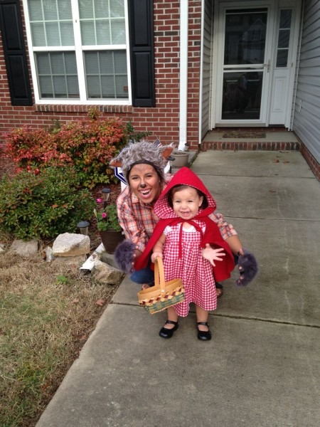 Little Red Riding Hood And The Bad Wolf Couples Costume Family