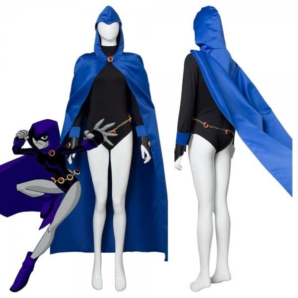 Online Shop Dc Anime Teen Titans Raven Cosplay Costume Women Sexy