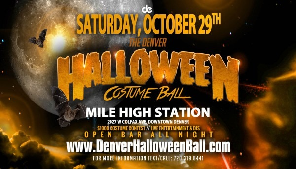 Denver's Best Halloween Party At Mile High Station With Open Bar