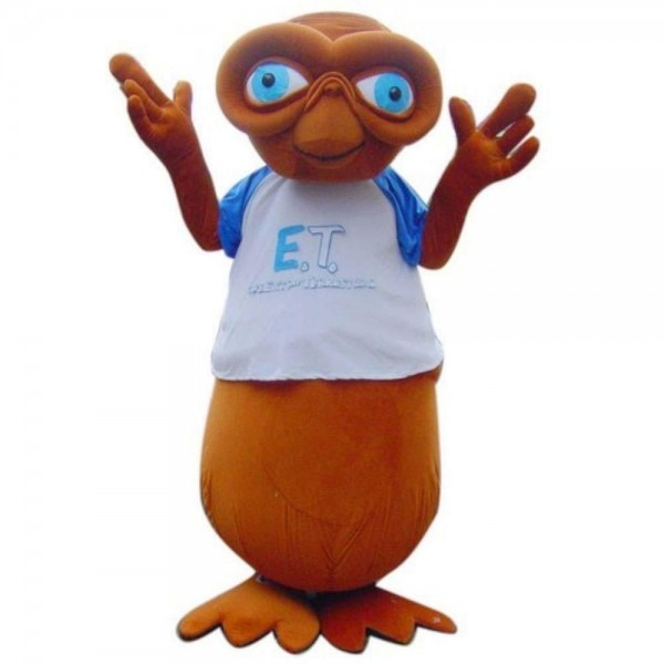 Deluxe E T  Alien Cool Mascot Costume Real Pictures Halloween
