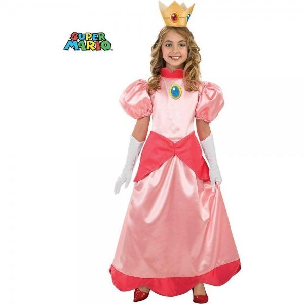 Disguise Girls Deluxe Super Mario Princess Peach Costume