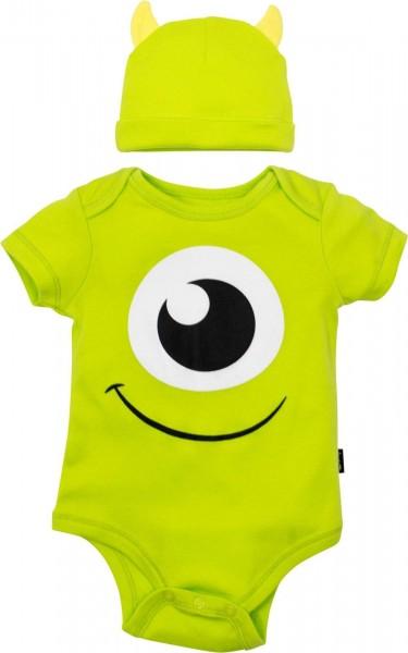 Disney Pixar Monsters Inc  Mike Wazowski Baby Costume Bodysuit And