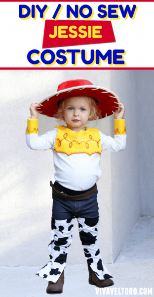 How To Make A Jessie Toy Story Costume  No Sewing Required!