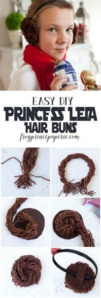 Diy Princess Leia Buns Headband
