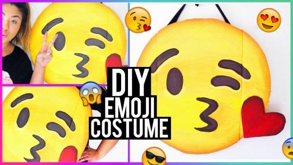 Hellomaphie  Diy Emoji Halloween Costume!
