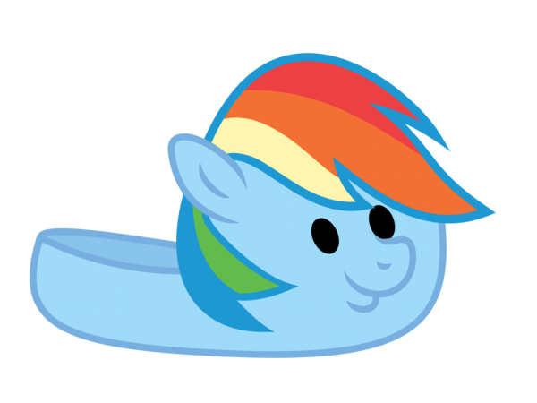 Dashie Slippers Vector