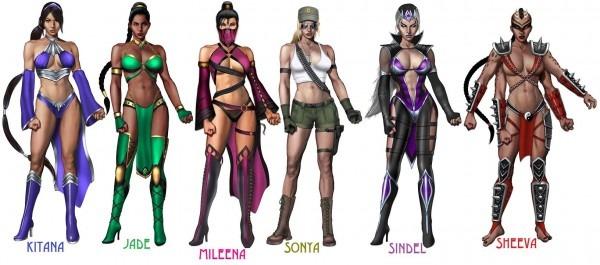 Mortal Kombat Girl Characters Costumes