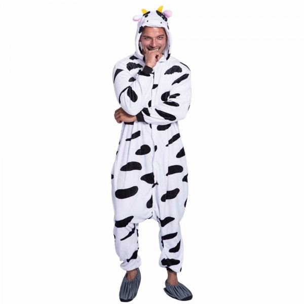 High Quality Male Animal Cosplay Costume Mike Cow Jumpsuit