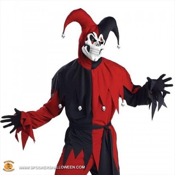 Evil Jester Costumes For Men Spookers Halloween