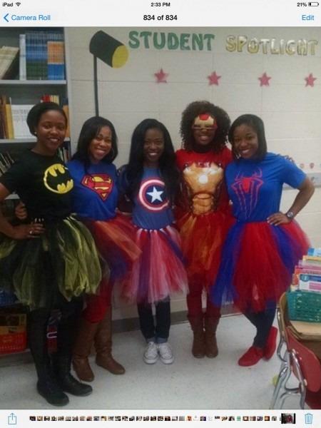 Teacher Costumes Superheroes With Tutus!