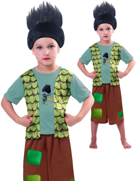 Boys Branch Trolls Costume Childs Tv Film Book Week Fancy Dress