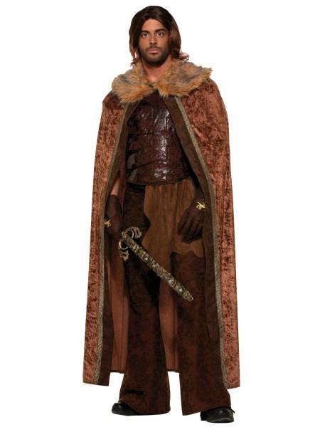 Mens Game Of Thrones Fur Cloak Cape Jon Snow Medieval Fancy Dress