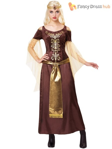 Ladies Medieval Princess Costume Adult Maiden Fancy Dress Game Of