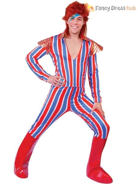 Mens 70s Alter Ego Ziggy Stardust David Bowie Costume Adult Rock